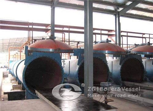 Sand lime brick autoclave in India