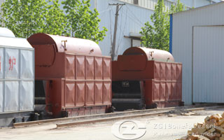 Biomass fired steam boiler image