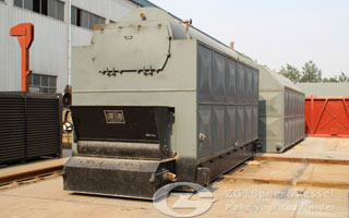 Coal fired steam boiler image