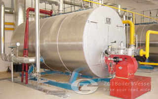 Gas fired steam boiler image