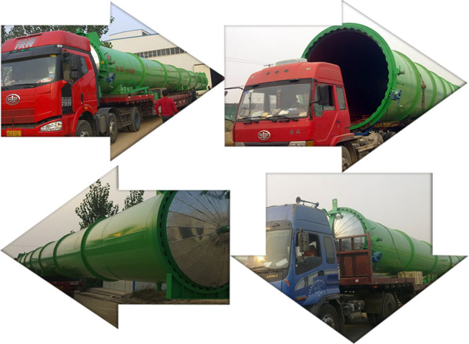 Rubber vulcanization autoclave shipping