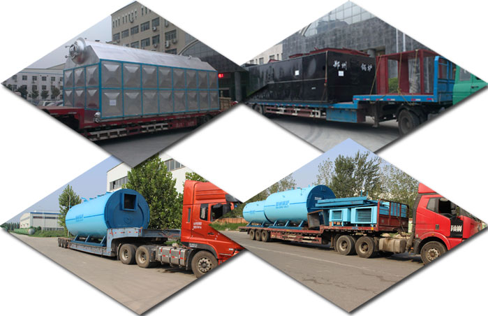 Oil fired steam boiler shipping